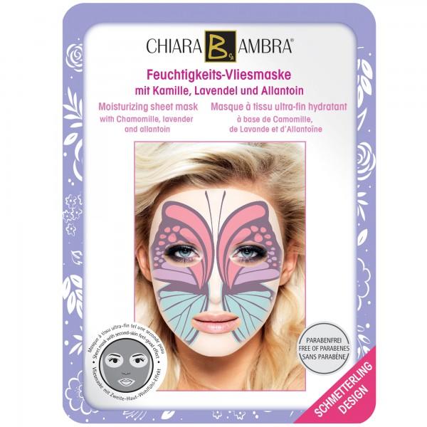CHIARA AMBRA® Masques à tissu ultra-fin pour le visage, design Animal - Design-Papillon