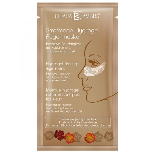 CHIARA AMBRA® Weiße Hydrogel Augenmaske im Spitzendesign mit Goldschimmer Effekt